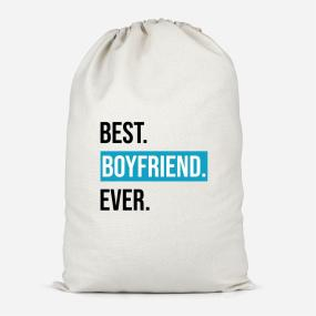 Best Boyfriend Ever Cotton Storage Bag - Large