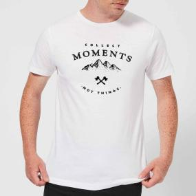 Collect Moments, Not Things Men's T-Shirt - White - 4XL - White
